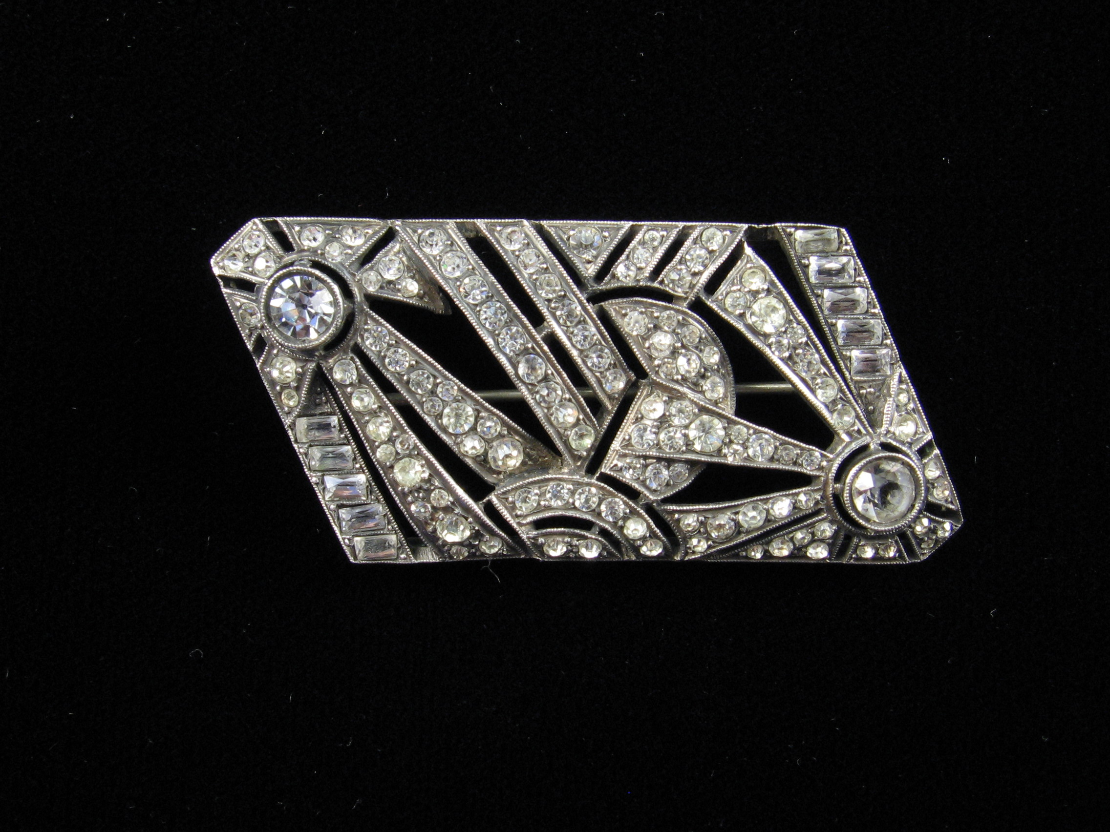 Art Deco Paste Brooch Made In France