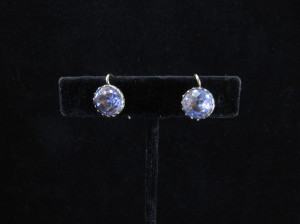 Georgian paste earrings
