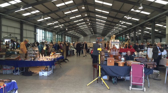 Antiquing in England:  Newark Antiques Fair